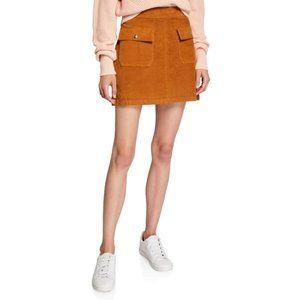 FRAME Le Cord Bailey Flap-Pocket Skirt, 25
